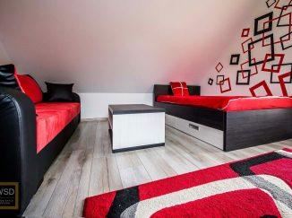 Podkrovná červená detská izba