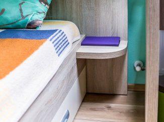 Detail postele v detskej izbe