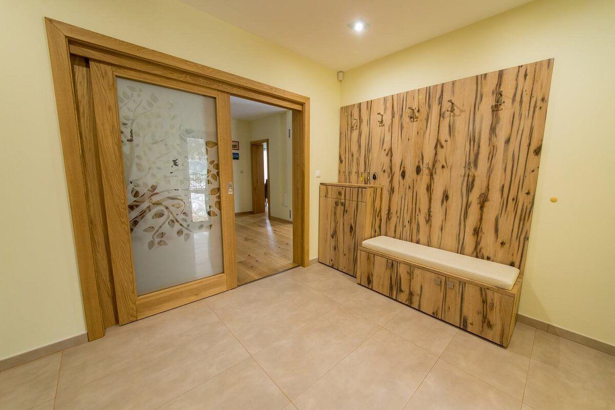 Štýlová drevená predsieň