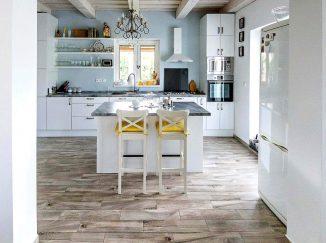 Biela vintage kuchyňa