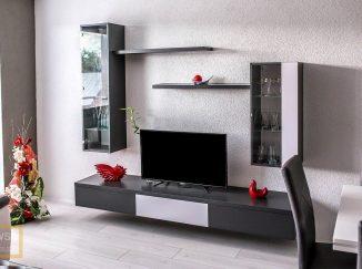 Sivá televízna stena