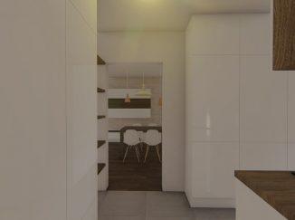 3D vizualizácia moderný interiér