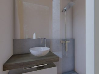 3D vizualizácia moderný interiér kúpeľňa
