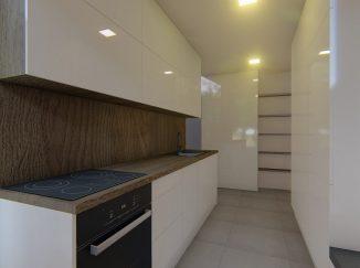 3D vizualizácia moderný interiér kuchyňa