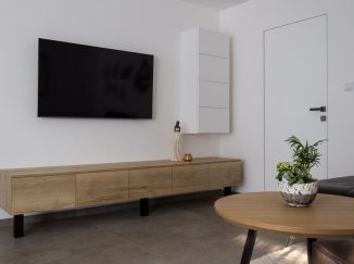 Moderná obývačková stena
