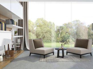vizualizácia interiéru pre príjemné posedenie