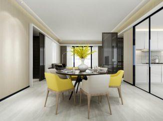 vizualizácia interiéru jedálenský stôl