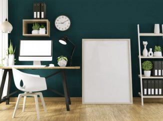 vizualizácia interiéru v kombinácií s tmavou zelenou