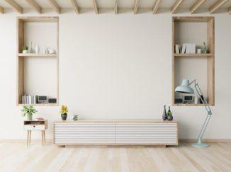vizualizácia interiéru s bielym nábytkom