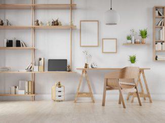 vizualizácia interiéru so svetlým drevom