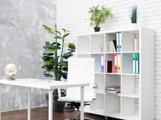 vizualizácia interiéru v modernej biele