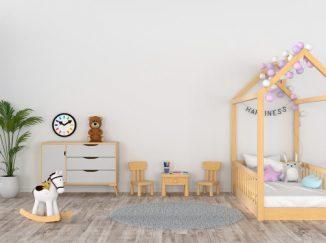vizualizácia detskej izby pre dievčatko