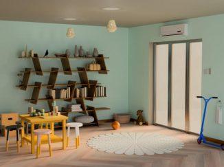 vizualizácia detskej izby v tyrkysových odtieňoch