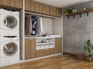 vizualizácia kúpelne s práčovňou