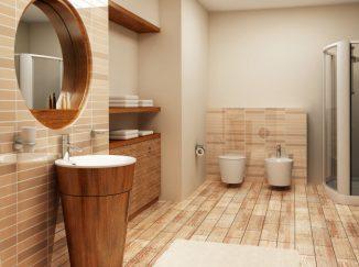 vizualizácia drevenej kúpelne