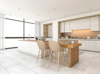 presvetlená vizualizácia kuchyne
