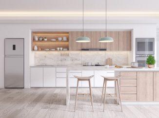 vizualizácia kuchyne s moderným vzhľadom