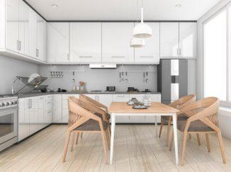 vizualizácia kuchyne v bielych odtieňoch