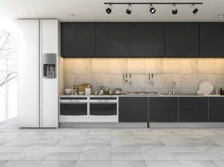 vizualizácia kuchyne s čiernym akcentom