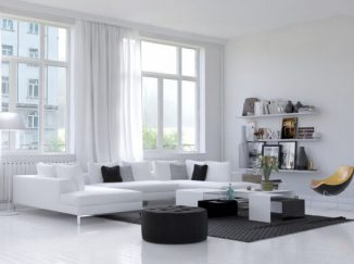 moderná vizualizácia obývačky