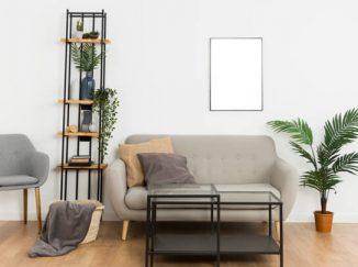 vizualizácia obývačky s rastlinami