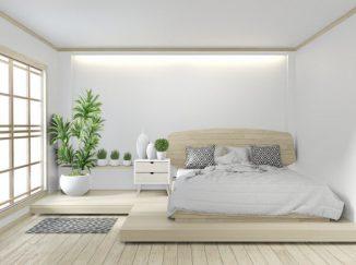 vizualizácia spálne v jemných bielych odtieňoch