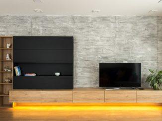 Obývačkový stena s podsvietením na mieru