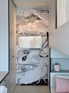 hravá stena v detskej izbe