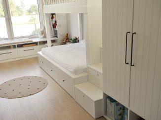biela detská izba posteľ