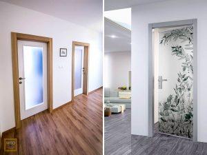 presklené dvere