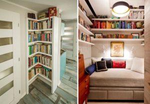 knižnice v malých priestoroch