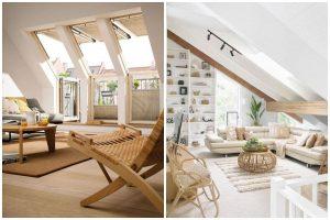 podkrovné obývačky