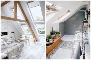 podkrovná spálňa a kúpeľňa