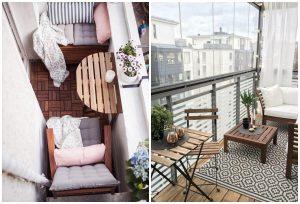balkónové inšpirácie drevený nábytok