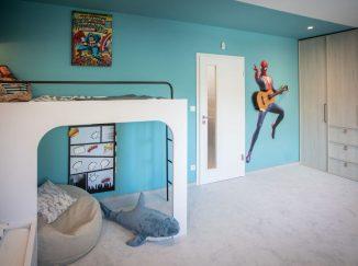 detská izba a mieru s poschodovou posteľou