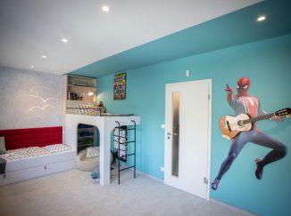 detská izba na mieru s tyrysovou stenou
