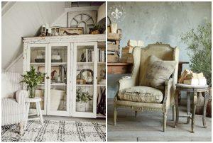 vintage nábytok v jemných tónoch