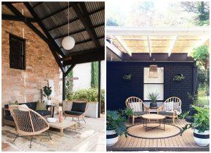 terasy s ratanovým sedením
