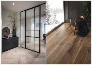 drevená podlaha v modernom interiéri