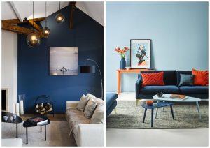 modrá farba v interiéri